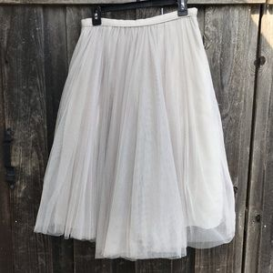 JENNY YOO Collection Light Grey Tulle Skirt Size 8